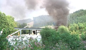 Bergneustadt: Großbrand bei Entsorger Lobbe