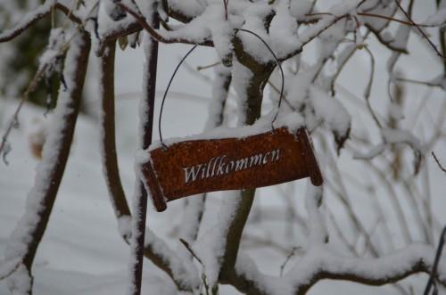 Winter Willkommensgruß