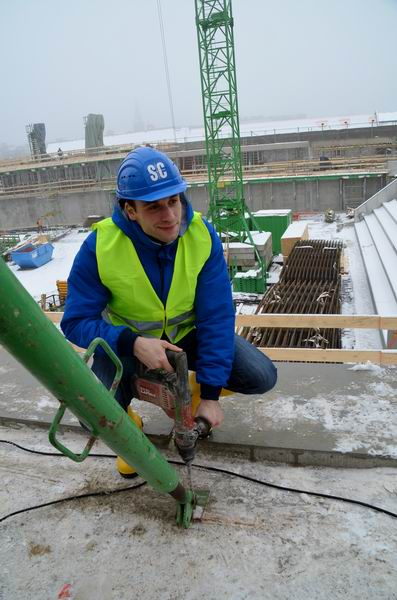 Bauarbeiter Gaubatz im Einsatz