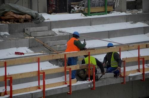 Einbau der Treppenelemente