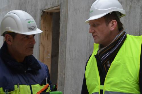 Bauleiter Spahr und Arena Geschäftsführer Kawczyk