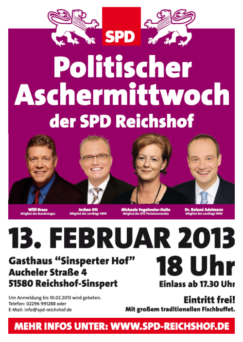 Photo of 5. Politischer Aschermittwoch der SPD Reichshof
