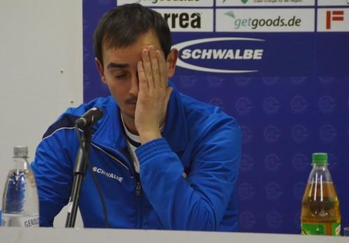 Trainer Kurtagic gezeichnet vom Spiel