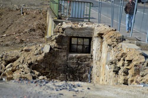 Letzte rest des Bruchsteinkellers der alten Mühle