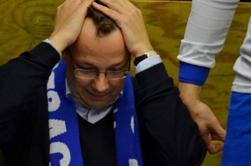 Vorstnsvorsitzender Götz Timmerbeil kurz vor Spielende / Text und Bilder : Uwe Schlegelmilch