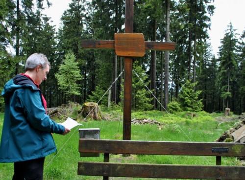 Gipfelkreuz auf dem Martinshardtgipfel