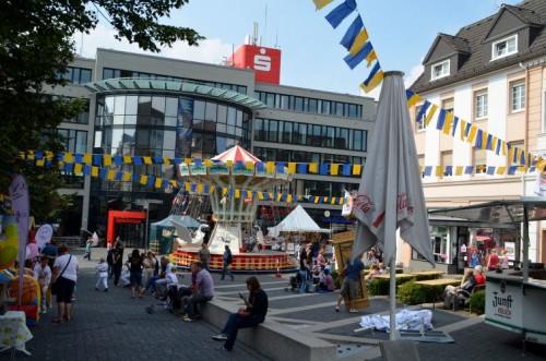 Mittelpnukt des Stadtfestes ist der Lindenplatz
