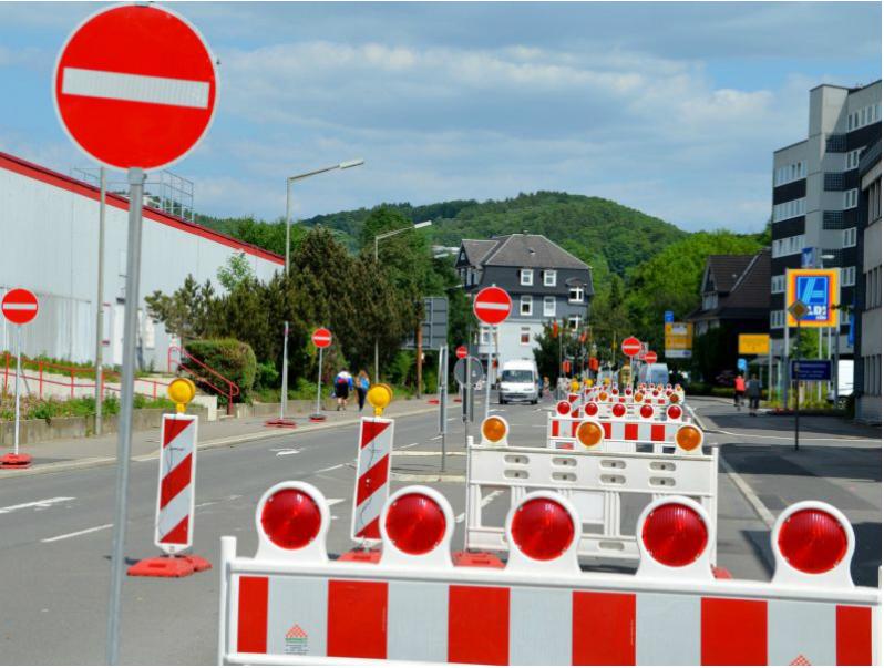 Photo of Vollsperrung der Kleinbernberger Straße in Gummersbach