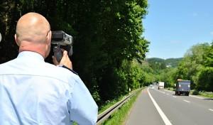 Angekündigte Geschwindigkeitskontrollen der Polizei und der Bußgeldstelle