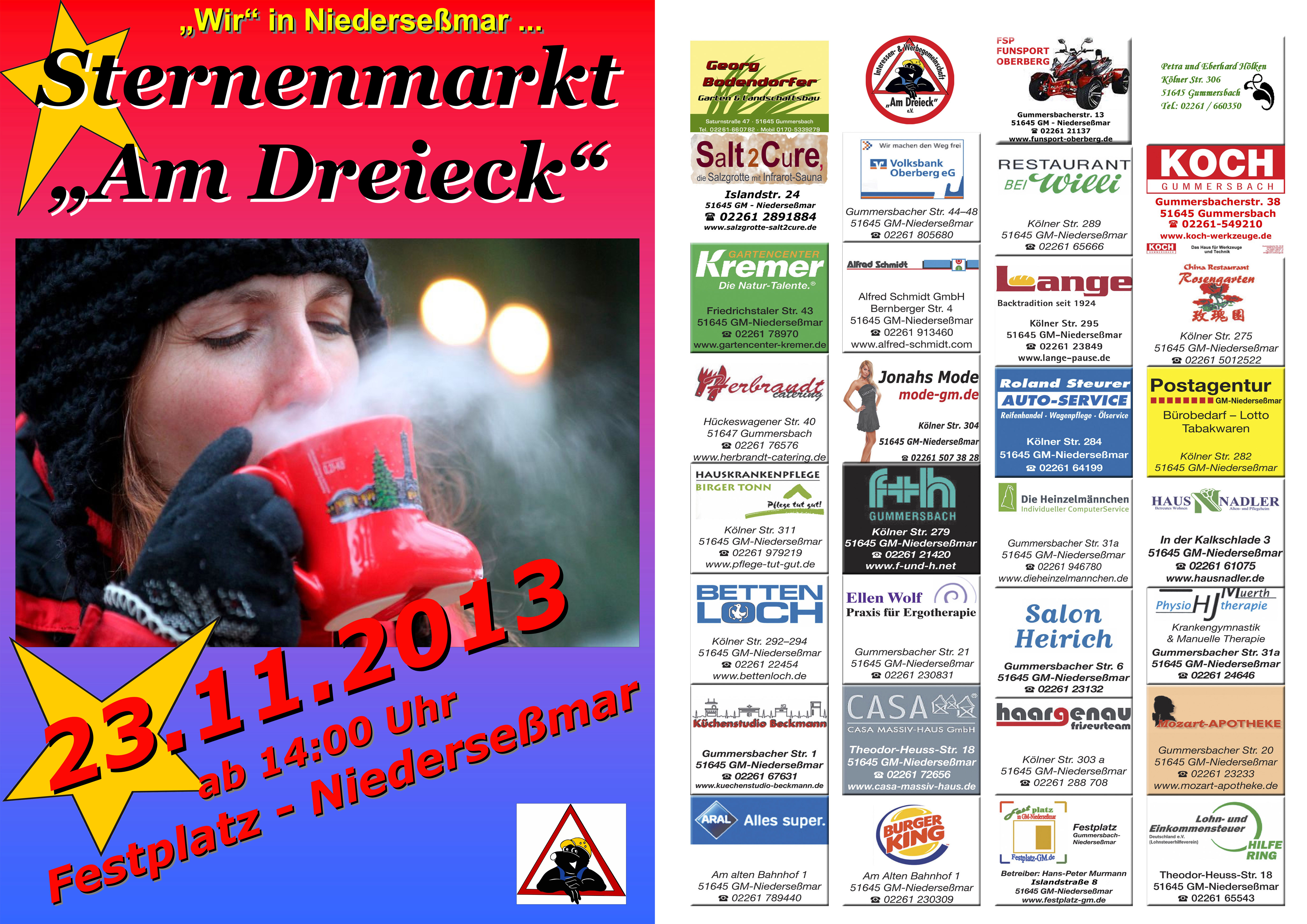 """Photo of Weihnachts-Sternenmarkt """"Am Dreieck"""""""