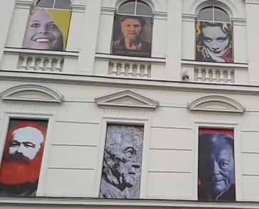 Berühmte Gesichter im Stil Andy Warhols