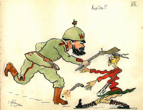 """Photo of """"Emotion und Expression II – Schüler malen den Krieg 1915 und heute"""""""