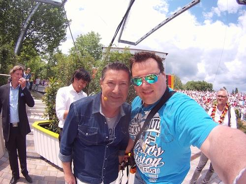 Ebenfalls beim ZDF Fernsehgarten Backstage getroffen Joachim Llambi (Rtl Let´s Dance Jury)
