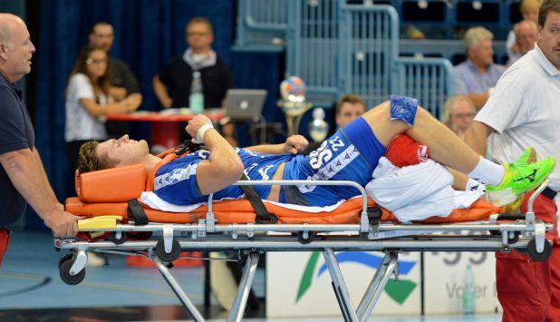Andreas Heyme schied mit einer schweren Knieverletzung aus