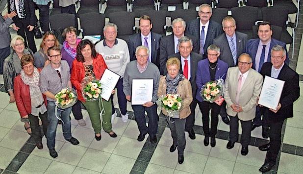 Die Preisträger des Freiwilligen-Förderpreises 2014 (Foto:OBK)