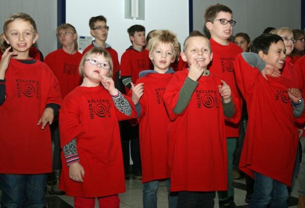 Die Minis genossen ihren ersten Auftritt im Kreishaus (Foto:OBK).
