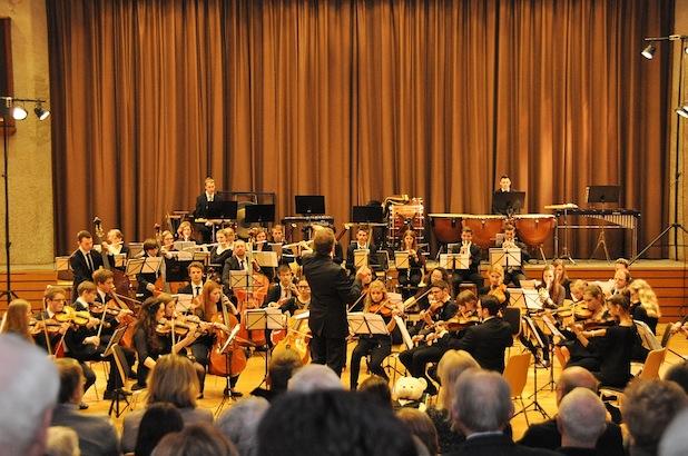 Das märkische Jugendsinfonieorchester im Kulturzentrum Lindlar im Anschluss an den Neujahrsempfang des Fördervereins für Musik Fotos: Torsten Wolter (Förderverein Musik)