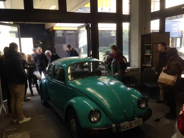 Alter Käfer mit moderner Technik - Foto: Gesamtschule Marienheide
