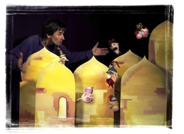 """Das Figurentheater """"Sack un' Pack"""" entführt Kinder ab 4 Jahren in das Reich von 1001 Nacht (Foto: Dieter Baum, Reichshof)."""