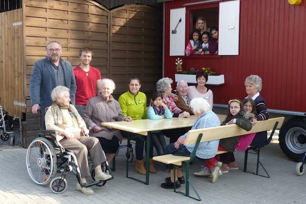 Photo of Erste Annäherung am KulturBauwagen