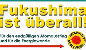 Mahnwache zum 4. Jahrestag der Atom-Katastrophe von Fukushima
