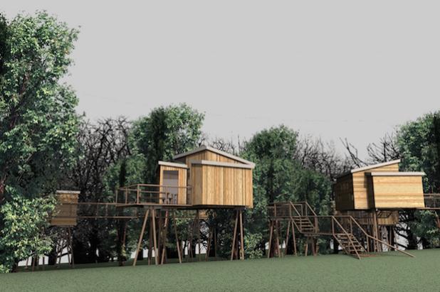 So sehen künftig die Baumhäuser aus, in denen die Besucher übernachten können (Quelle: ReComPR GmbH).