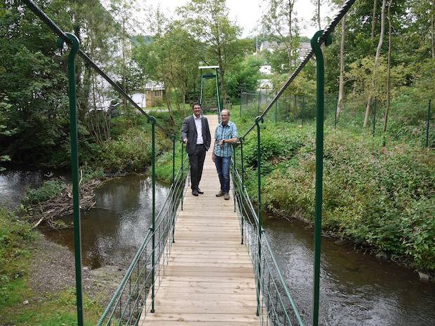 Photo of Runderneuerung der historischen Morsbacher Hängebrücke