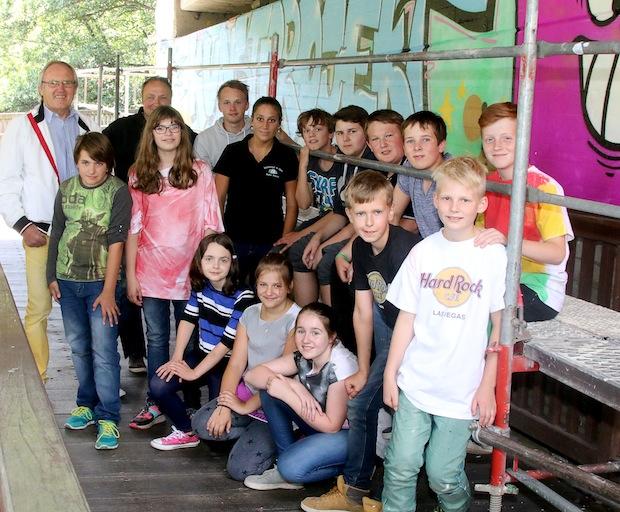 Photo of Graffiti- Kunstprojekt im Wiehler Freizeitpark