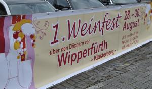 1.Wipperführter Weinfest auf dem neu gestalteten  Klosterberg