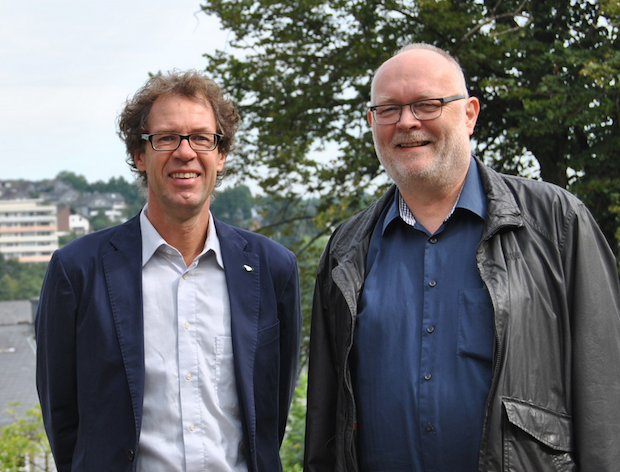 li. Herr Michael von Rekowskie Bürgermeister von Wipperfürth, re. Dirk Westerheide Chef der Firma ZVW Event & Marketing  Foto: ARKM/Efrem Lemonis
