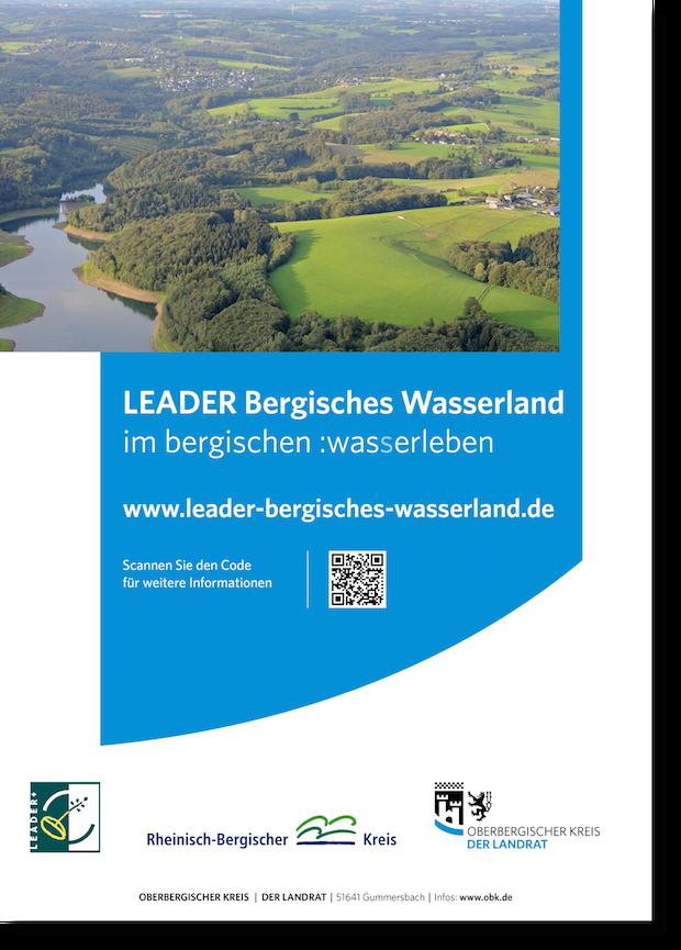 Plakat der LEADER-Region Bergisches Wasserland (Foto: OBK).