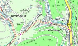 Kurzzeitige Vollsperrung: Sicherungsarbeiten auf der K 42 in Gummersbach-Wasserfuhr
