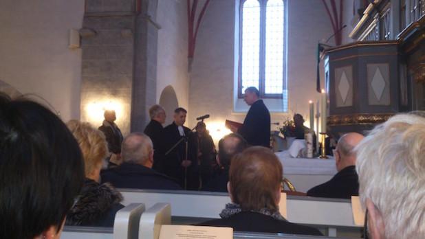 Offiziell wurde auch Pfarrer Kai Berger in sein Amt als Pfarrer für den Bezirk Müllenbach eingeführt. Der 47-Jährige ist seit 2004 Pfarrer in Marienheide (Foto: Kirchenkreis/Birgit Niemand).