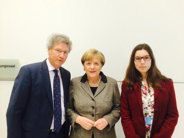 Bild von Oberbergische Schülerin trifft Kanzlerin Merkel