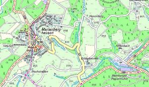 Eingebrochene Bachverrohrung in der K 25 bei Marienberghausen wird erneuert