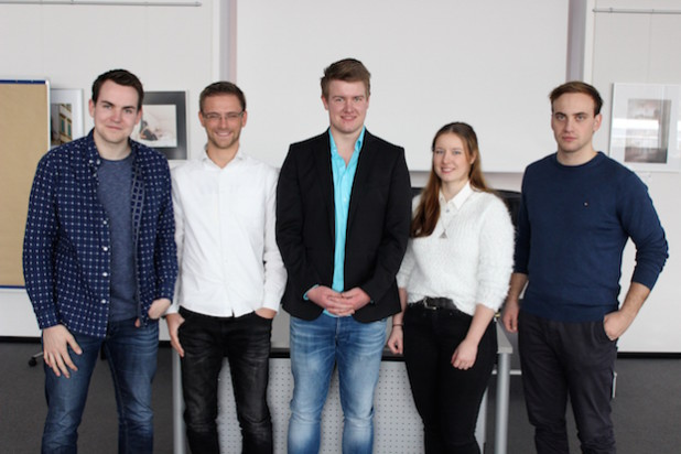 Von links: Diehl, Diener, A. Friedrichsen, J. Friedrichsen und Wenzel - Quelle: Johannes Diehl/Junge Liberale Oberberg
