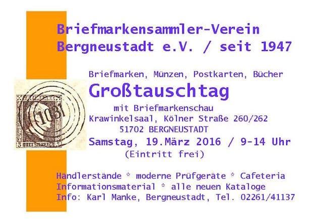 Photo of Großtauschtag beim Briefmarkensammlerverein in Bergneustadt