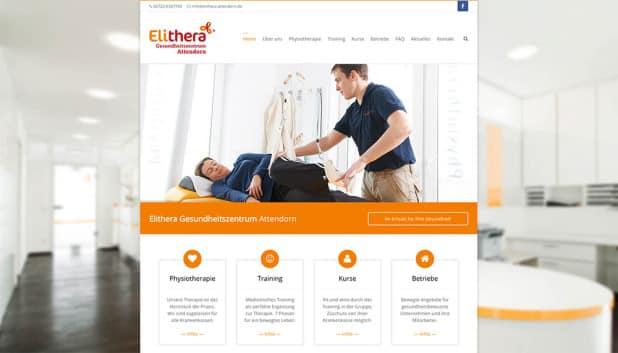 Neue Webseite des Elithera Gesundheitszentrum Attendorn
