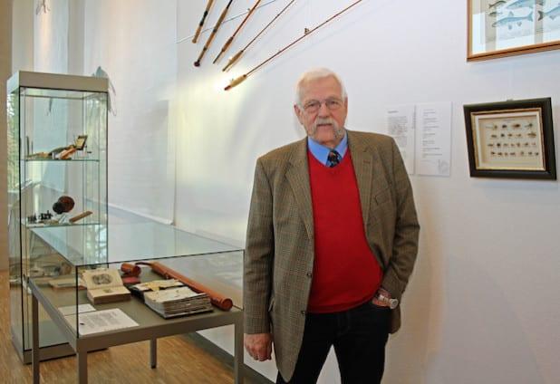 Gerd-Peter Wieditz fischt sein 40 Jahren mit der Kunstfliege und ist ein Meister seines Fachs, im Fliegenfischen wie im Fliegenbinden. (Foto: OBK)