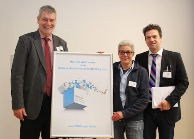 Hilko Redenius, Gabriela Graf und Jens Eichner bilden den Vorstand des Kulturlandschaftsverband Oberberg e. V. (Foto: OBK)