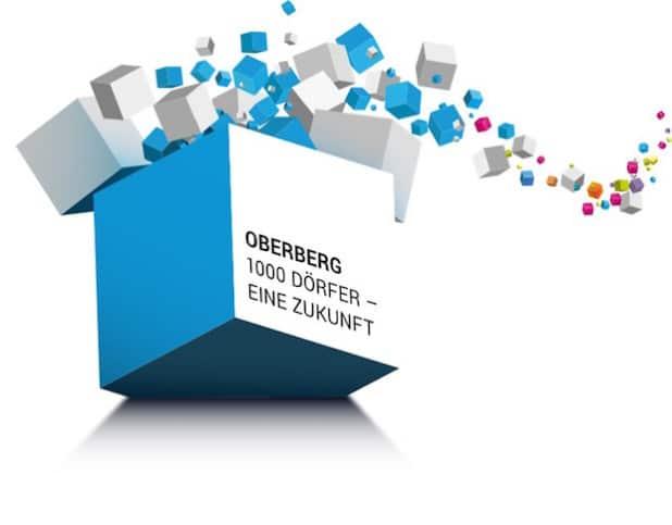 """08.04.2016: LEADER-Region Oberberg: Vorstand und LEADER- Entscheidungsgremium sind gewählt – ein wichtiger Schritt für die ländliche Entwicklung im Oberbergischen Kreis Seite  4 / 4 Logo der LEADER-Region """"Oberberg: 1000 Dörfer - eine Zukunft!"""" (Foto: OBK)"""