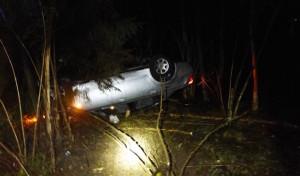 Marienheide: Alleinunfall Von der Fahrbahn abgekommen und überschlagen