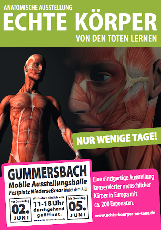 Gummersbach: Anatominsche Ausstellung! Echte Körper - von den Toten ...