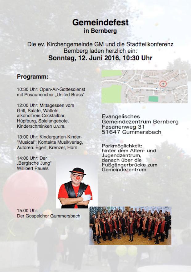 """Gemeindefest in Gummersbach-Bernberg: """"Gott lädt uns ein"""