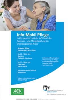 """Flyer """"Info-Mobil Pflege"""" in Wiehl. (Flyer: OBK)"""