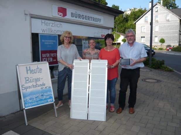 Mitglieder der Arbeitsgruppe v.l.n.r.: Tanja Bonrath, Antje Kleine, Doris Klaka, Heinz-Dieter Johann (Quelle: SPD OV BERGNEUSTADT)