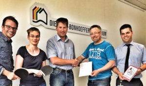 Kooperation zwischen dem Dietrich-Bonhoeffer-Gymnasium Wiehl und dem TTC Wiehl