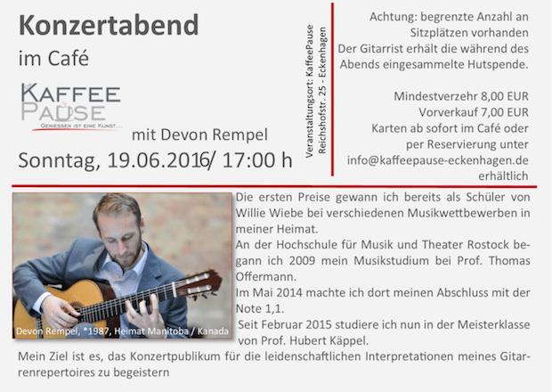 """Photo of Reichshof: Konzertabend im Café """"KaffeePause"""""""