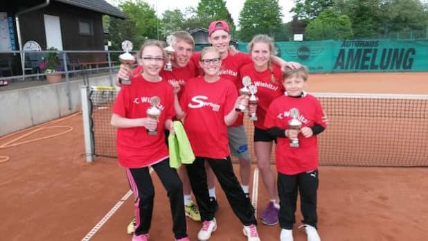 Gruppenbild Finalteilnehmer TC Wiehlltal (Quelle: Juppi Steinfort)