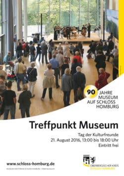 """Plakat zur Veranstaltung """"Treffpunkt Museum"""" im Museum und Forum Schloss Homburg. (Foto: OBK)"""